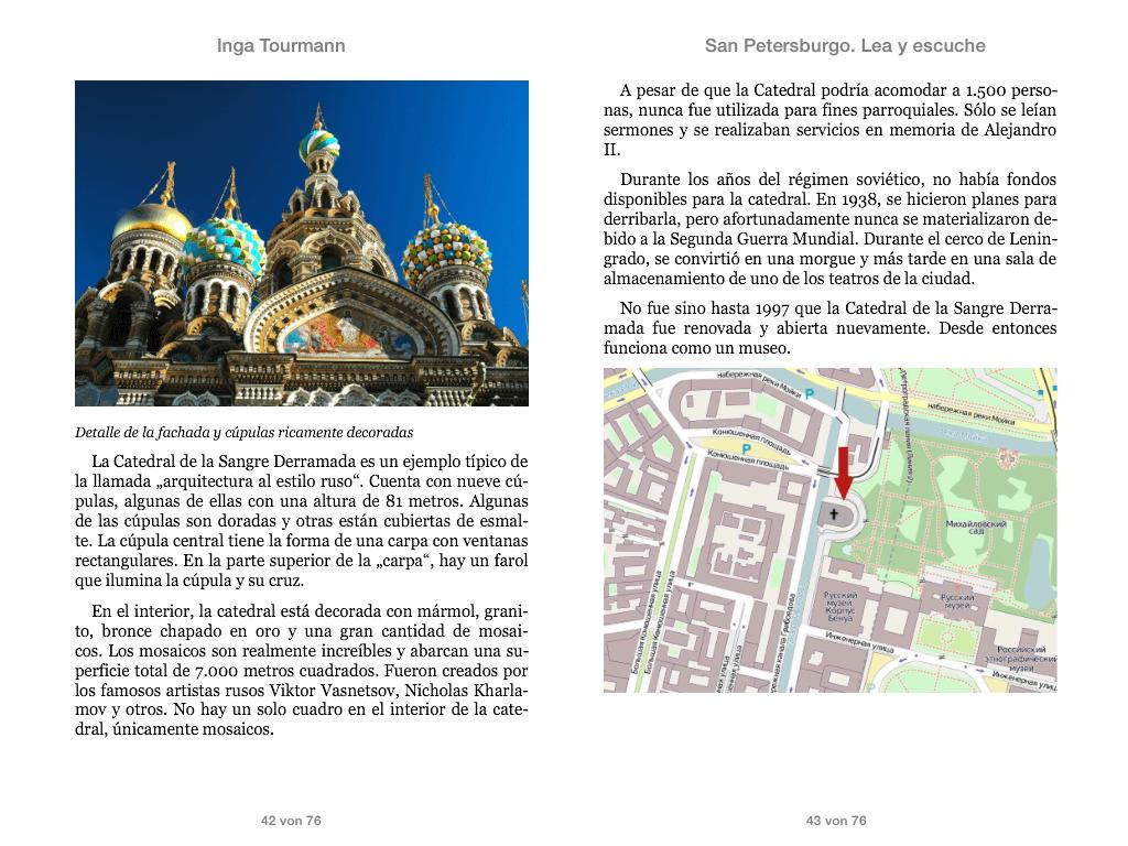 San Petersburgo. Lea y escuche
