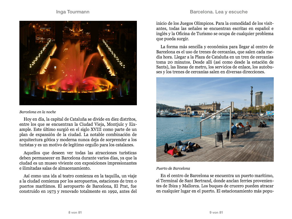 Barcelona. Lea y escuche